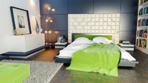 Schlafzimmer mit Bettdecke Füllgewicht einer Bettdecke