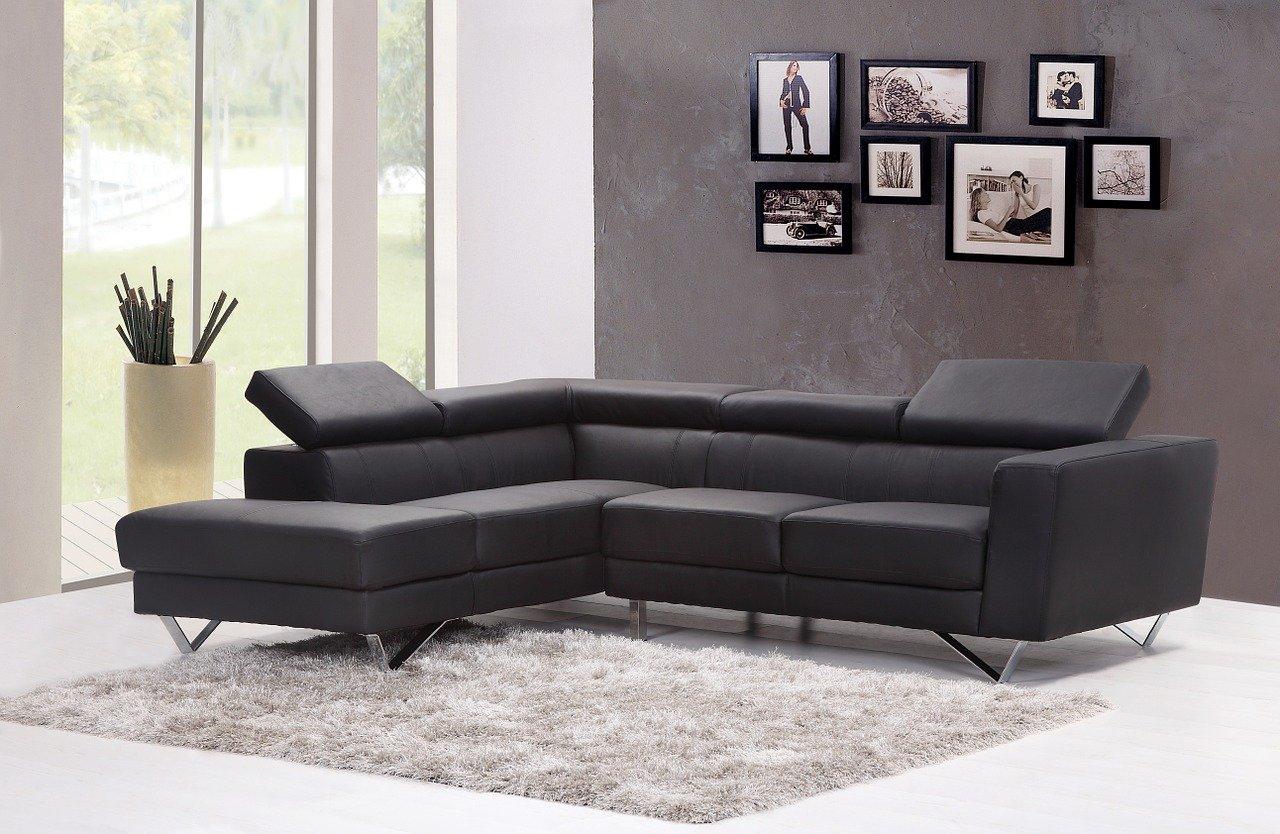 Kaltschaum Sofa in einem Wohnzimmer