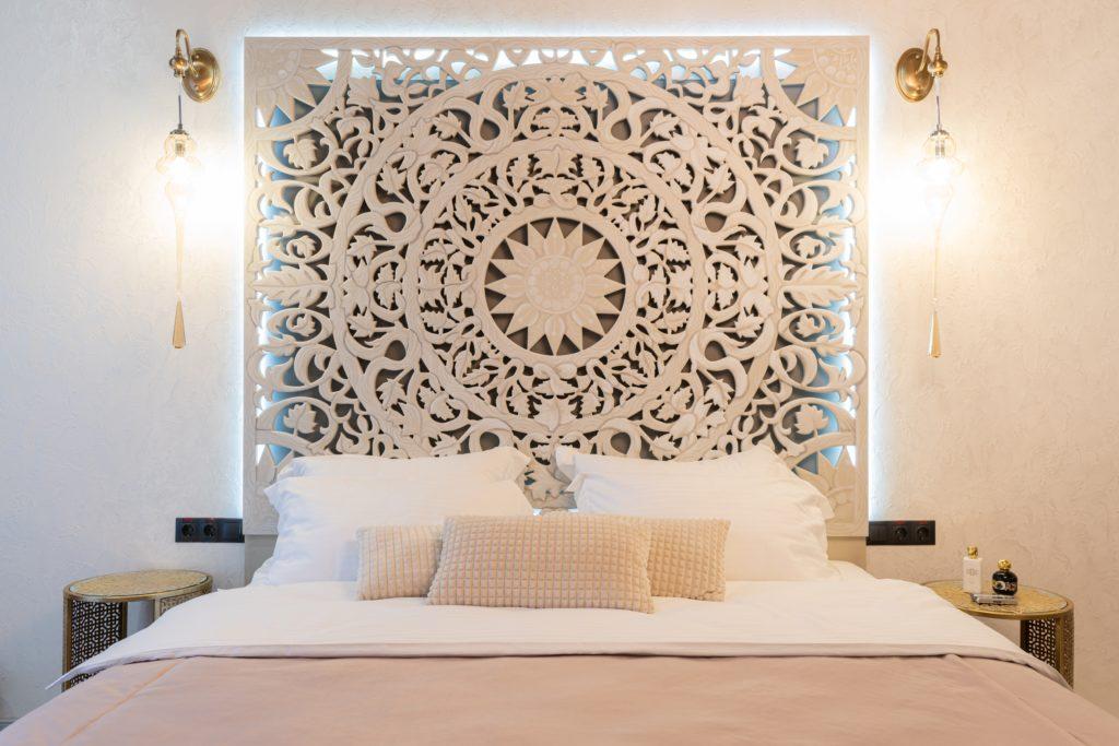 Luxus Bettdecke in einem Luxusraum