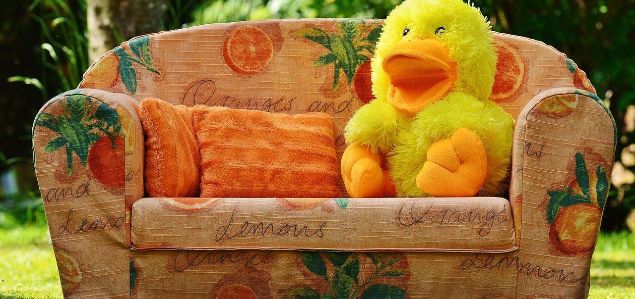 Kinder Schlafsessel Couch mit einer Ente