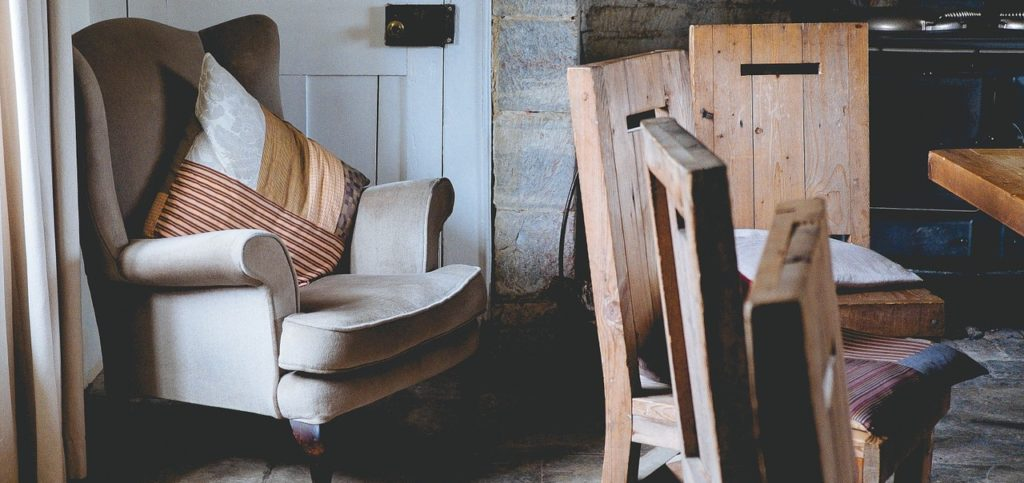 Sesselschoner Kopfteil mit Sessel