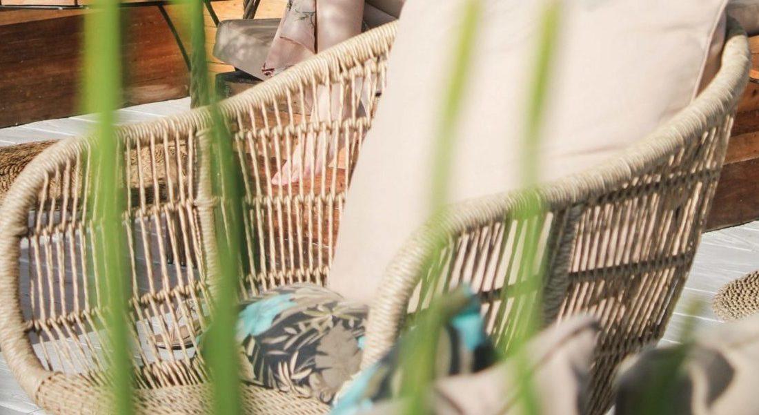 Sitzkissen Korbsessel outdoor
